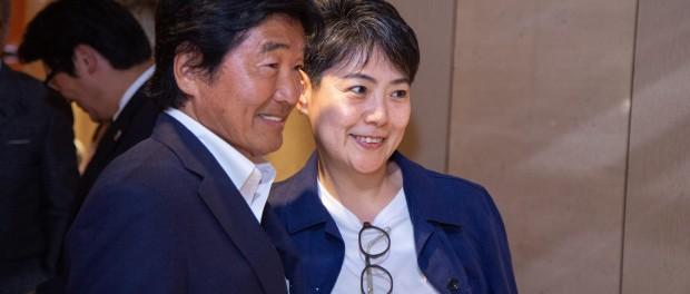 北原照久さん 安積陽子 出版記念パーティー